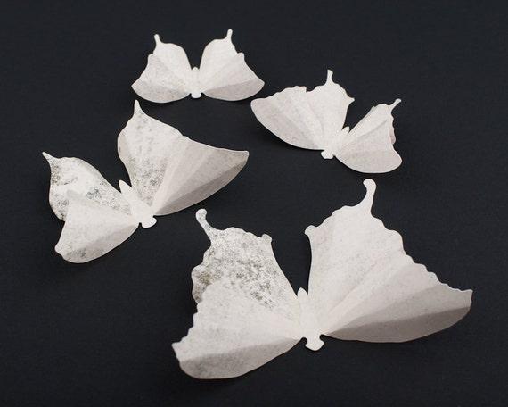 3D Butterfly Wall Art: White Cinder Snow Paper Butterflies for Wall Decor, Nursery, Children's Room