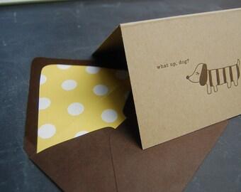 Letterpressed Dog Cards