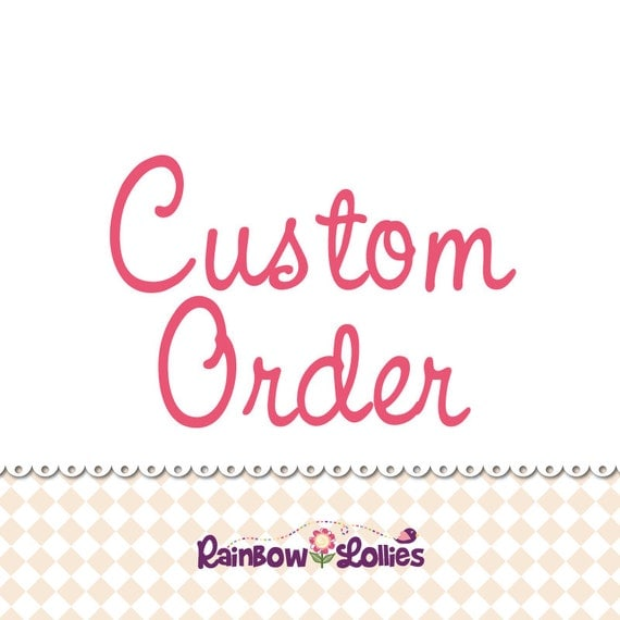 4 x fabric covered buttons. Custom order for MM