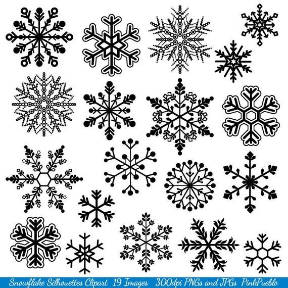 Snowflake Clipart Clip Art Snowflake Silhouette Clip Art