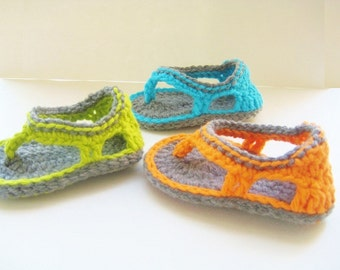 Crochet Sandals Booties Pattern, Flip Flop Sandals Pattern for Baby Boys,  Trekkers