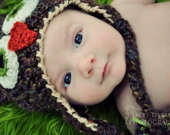 Baby Boy Hat - Brown Owl Hat - Baby Owl Hat - Baby Boy Shower Gift - Newborn Hat - by JoJosBootique