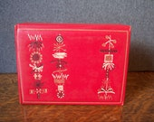 Vintage Mid Century Leatherette Red Box with Abstract Design