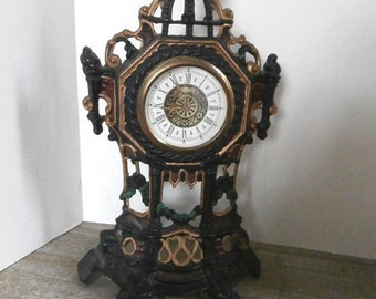 Fancy Bronze Shelf Clock