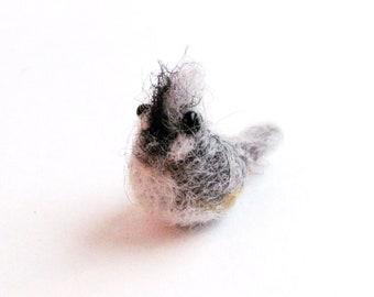 tufted titmouse miniature
