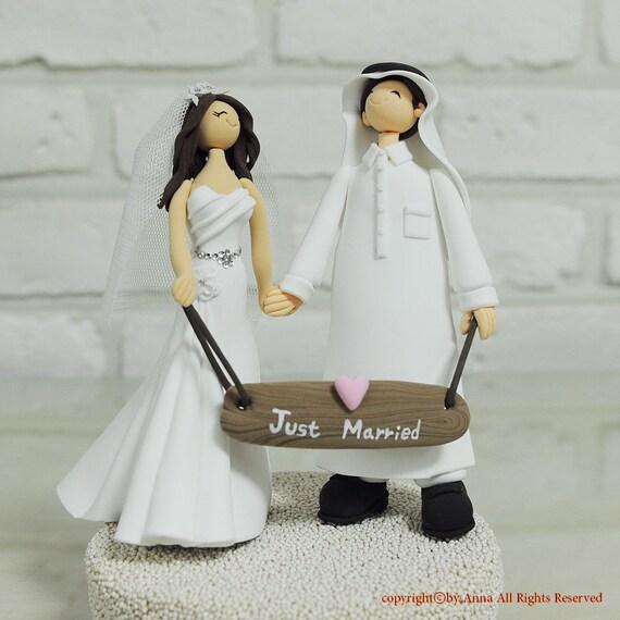 Items similar to arabian couple custom wedding cake topper for Arabian cake decoration