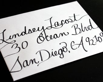 Custom Calligraphy Wedding or Party Invitations, Placecards and more...Featured in Etsy Finds