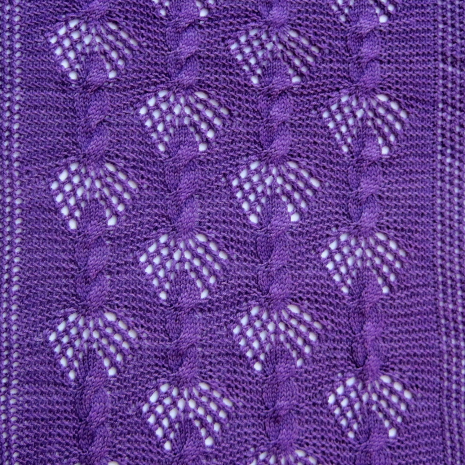 Knit Wrap Pattern: Mesh and Fan Cable Lace Wrap Knitting