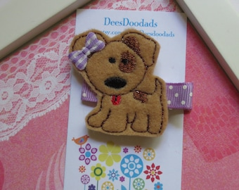 Perky Little Puppy Hair Clip