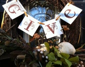 Thanksgiving Decoration Give Banner / Thanksgiving Decoration / Thanksgiving Banner / Thanksgiving Sign / Fall Decoration
