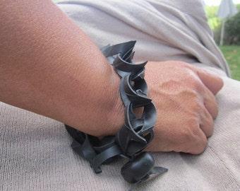 Rubber Handmade Bracelet.. 'Mysterious Walk'