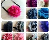 Lot of 27 Shabby Chic Headband Set, Baby Headbands, teen headbands, adult headbands- clips available