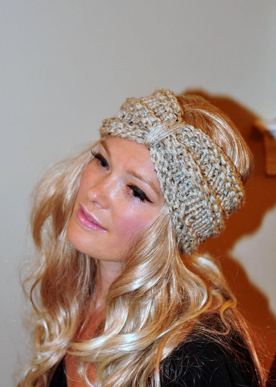 Turban Headband Crochet Head wrap Knit ear warmer Earwarmer