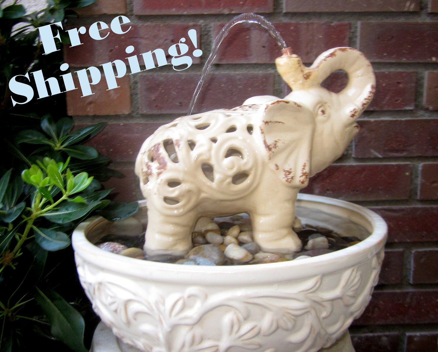 Elephant S Shower Water Fountain Indoor And By