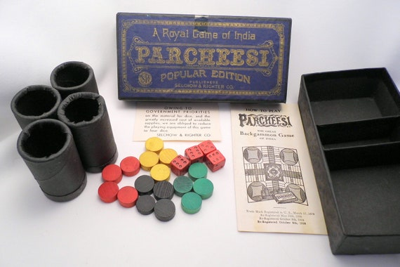 Vintage Selchow & Righter Parcheesi 1938