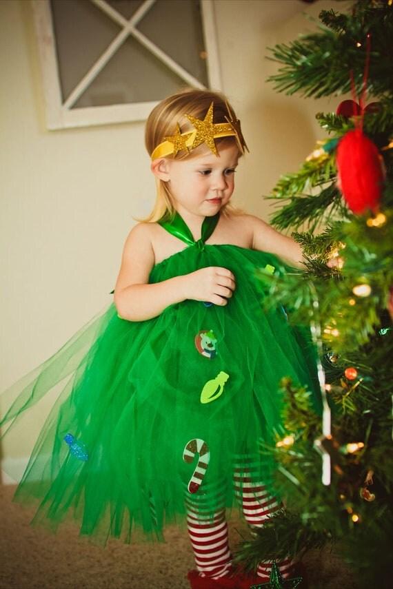 Items similar to atutudes christmas tree tutu dress on etsy - Disfraces de navidad originales ...
