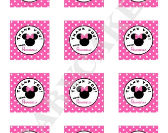 Minnie Mouse Birthday Party Favor Tags - Print Your Own