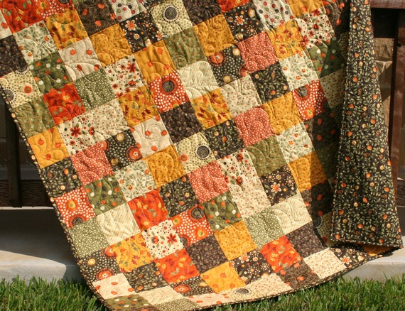 Sale Autumn Quilt Fall Throw Grand Finale One By