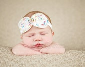 Baby headband, newborn headband, adult headband, child headband and photography prop The single sprinkled-POLKA DOT bow headband