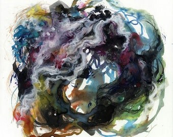 Coil VI / Giclee print / multiple sizes / watercolor / nature / patterns / abstract contemporary art