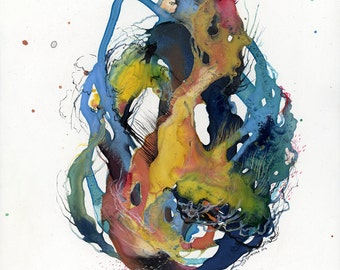 Coil XVII / Giclee print / multiple sizes / watercolor / contemporary art