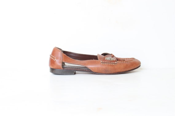 Rusty Grunge Tassel Cut out Loafers size 9