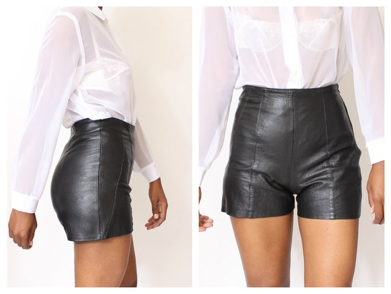 Leather Shorts High Waisted - The Else