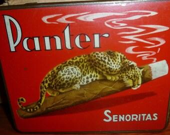 Panter Senoritas Vintage Dutch Cigar Tin. 1960s