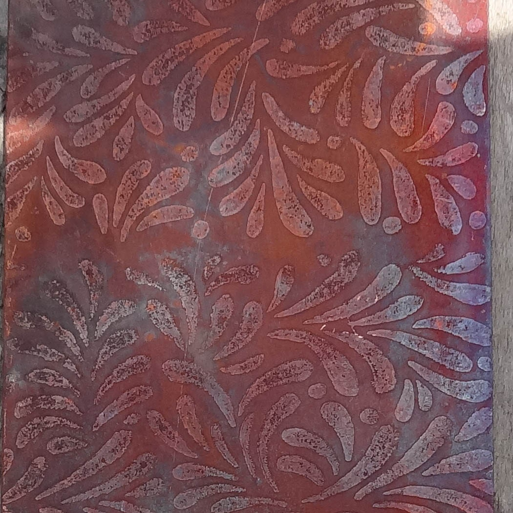 Etched Copper Sheet Metal Patina Copper Sheet Metal By