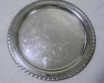 Vintage Oneida, Silverplate, Tray, Platter, Made in America
