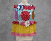 Crochet skirt,top,capelet,dress,poncho You can wear in five different ways M...L...XL...2xl...3xl...4xl