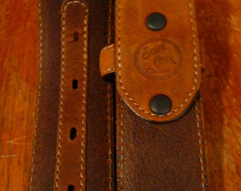 Beautiful Silver Creek Classics Leather Belt Western Style no buckle size 32