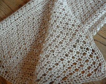 Vintage Crocheted Scarf All Cotton