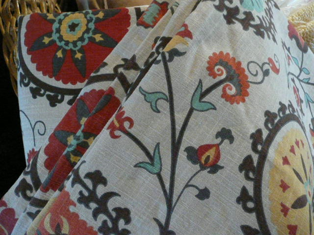 A Pair of Mandala Curtains Like New 96 by 48 inches lined