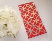 Lattice Duct Tape Wallet RED Geometric Pattern
