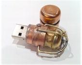 Steampunk 16GB USB Flash Drive Model 104 in a Tin Box