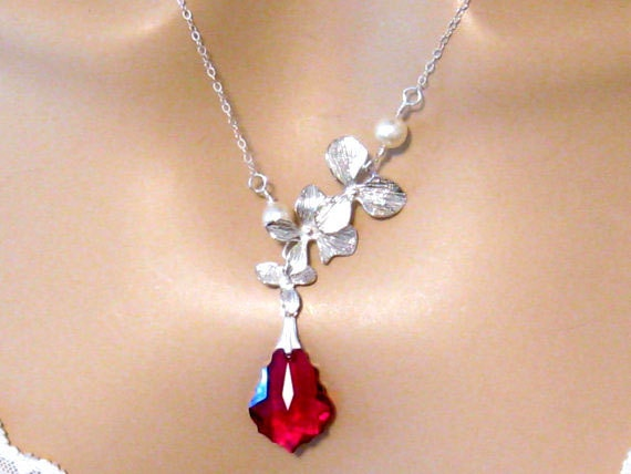 Wedding Gift Jewelry: Wedding Jewelry Bridesmaids Gift Red By Martywhitedesigns