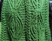 PDF Download Knitting Pattern for the Ancient Twisted Knit Pattern Scarf