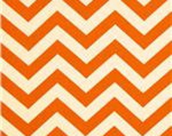 Pillow Cover Cushion Orange zig zag chevron 18x18