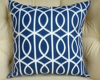 1  Pillow Covers, Cushion cover, blue navy gate Porte bella 20x20