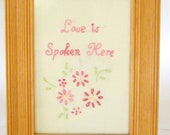 Hand Embroidered Wall Art