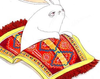 Flying Carpet Bunny