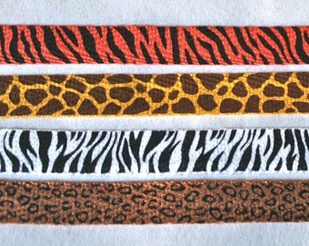 African Animal Print Twill Tape Zebra Giraffe Tiger Leopard for Sewing Scrapbooking Craft Supplies