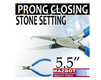 "Mazbot 5.5"" PRONG CLOSING Pliers Stone Setting Jewelry Tool SS04"