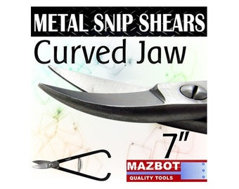 """Mazbot 7"""" Metal Snip Shears CURVED Jewelry Making Tool Beading Stainless MSP02C"""