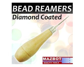Mazbot  Diamond Coated Bead Reamer Pearl Jewelry Tool Beading Hole Reamers DBR3