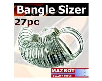 Mazbot 27pc Bangle Sizing Measuring Gauges  -  BS01