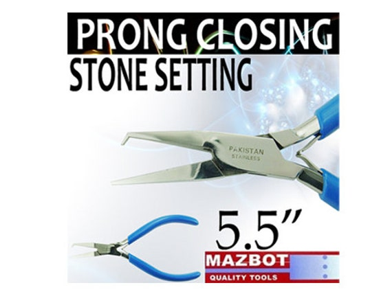 """Mazbot 5.5"""" PRONG CLOSING Pliers Stone Setting Jewelry Tool SS04"""