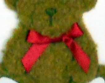 Teddy Bear Blank Greeting Card - Children s Toy, Stuffed Animal, Brown, Tan, Beige, Red, Blue, All Occasion