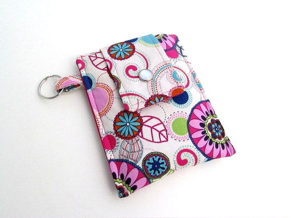 Discontinued- Last One- Cell Phone iPod Cozy- Colorful Retro Floral